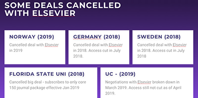 Some deals canceled with Elsevier. Image by Aaron Tay