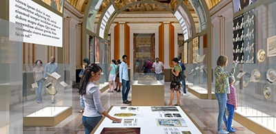 A rendering of the Library of Congress's ongoing renovation, which it says will let visitors better appreciate Thomas Jefferson's library books