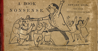Cover of A Book of Nonsense, by Edward Lear, 3rd ed., London, 1861