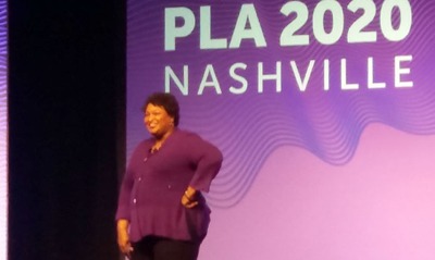 Stacey Abrams at the 2020 Public Library Association Conference in Nashville