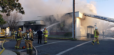 Porterville (Calif.) City Library fire