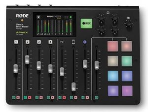 RØDECaster Pro is a fully integrated podcast production console.