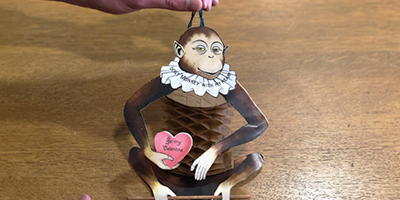 Nothing says romance like a monkey with an extensible crepe-paper torso