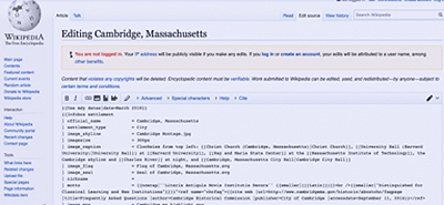 Automated Wikipedia editing