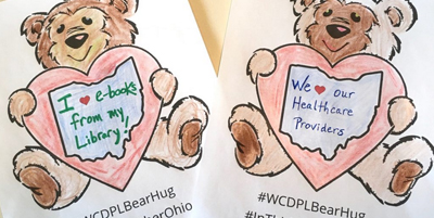 Wood County District Public Library's bear hug pictures