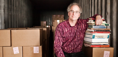 Brewster Kahle, the founder of Internet Archive, a nonprofit that has drawn criticism for making more than a million scanned books available free online. Photo by Lianne Milton / New York Times