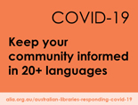 Keep your community informed in 20+ languages