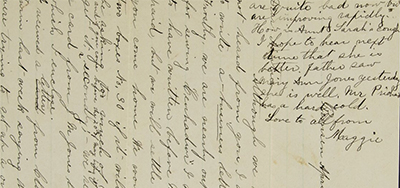 The Newberry Library wants help deciphering 140-year-old letters such as this one, written by a teacher named Anna Everett, who settled in her family's home in Remsen, New York