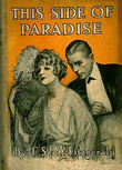 Dust jacket cover of first edition of This Side of paradise, by F. Scott Fitzgerald (1920)