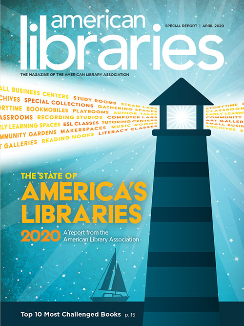 Cover of the State of America's Libraries Report 2020