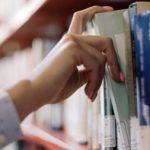 Academic library shelf
