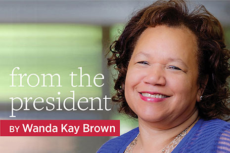 From the President by Wanda Kay Brown