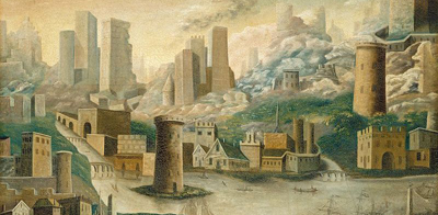 A City of Fantasy, by an unknown 19th-century American artist