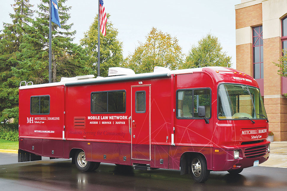 The Mobile Law Network RV visits two St. Paul (Minn.) Public Library branches per month. Photo: Mitchell Hamline School of Law