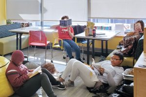 The Silent Book Club at Newport (R.I.) Public Library offers teens a space for quiet reading after school. Photo: Newport (R.I.) Public Library