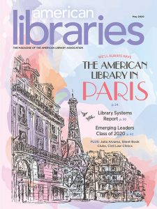 Cover of American Libraries Magazine May 2020