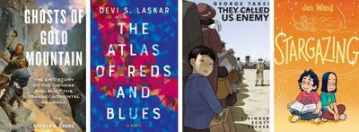 Covers of four APALA award-winning books