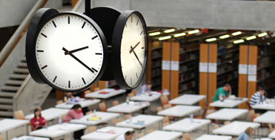 Academic library clock