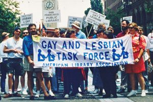 The ALA Gay and Lesbian Task Force ­marching in the 1992 San Francisco Pride parade.