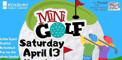 Mini-Golf at the Roxbury (N.J.) Public Library