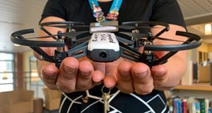 The Ryze Tello is a lightweight, entry-level drone.