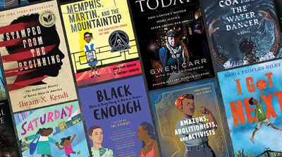 Covers of antiracist books for adults and children