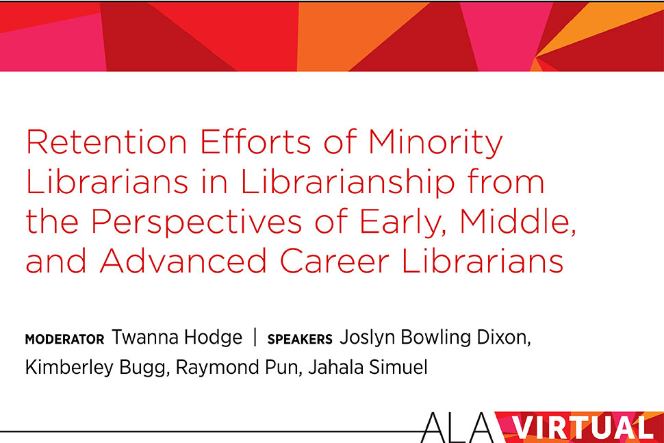 Graphic: Retention Efforts for Minority Librarians