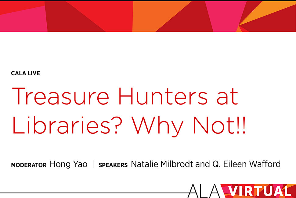 Treasure Hunters at Libraries? Why Not!!