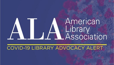 American Library Association COVID-19 Library Advocacy Alert logo