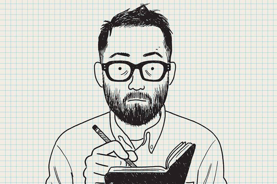 Adrian Tomine, self-portrait