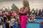Princess Mocha read to children during Drag Queen Story Hour at the Five Forks library in Greenville, South Carolina, on February 17, 2019. Jonathan Newton, the former manager of the Five Forks branch, received a $30,000 settlement from the Greenville County Library system after he sued for wrongful termination. (Photo: Natalie Shaik)
