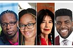 ALA Midwinter Virtual 2021 speakers Ibram X. Kendi, Keisha N. Blain, Joy Harjo, and Emmanuel Acho