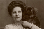 Author B. M. Croker and her little dog, too
