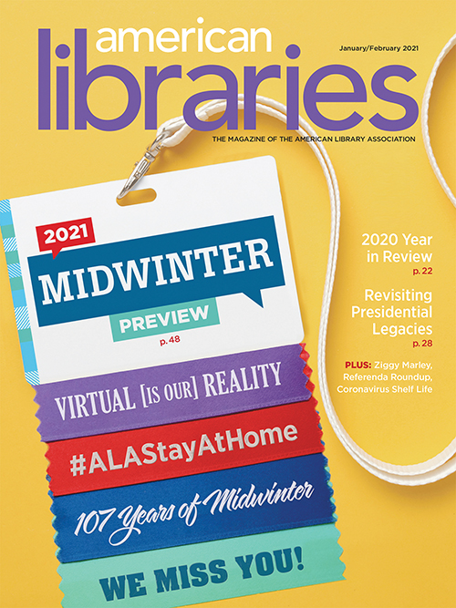 Cover of American Libraries Magazine January/February 2021