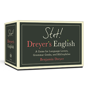 Box of STET! Dreyer's English card game