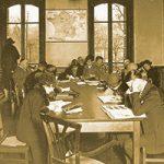 Patrons at American Library in Paris