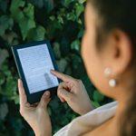 Person using e-reader