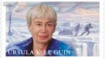 USPS stamp illustration of Ursula K. Le Guin