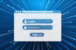 Blue generic login screen (Image: Gerd Altmann/Pixabay)