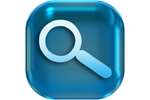 Magnifying glass icon on blue square (Image: Gerd Altmann/Pixabay)