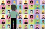 Person staring at wall of Zoom meeting faces (Illustration: Alexandra_Koch/Pixabay)