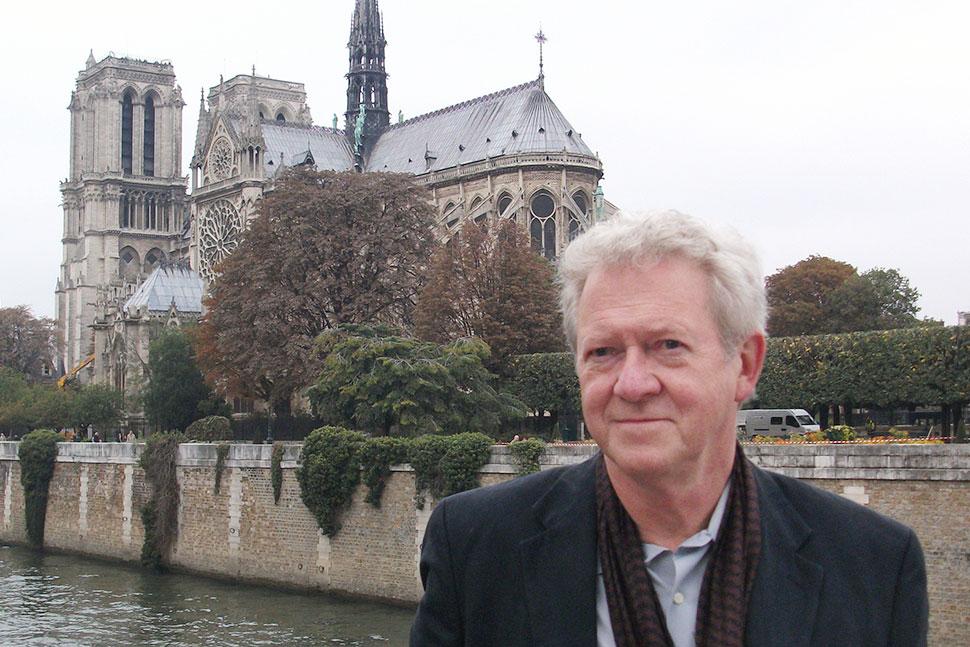 Leonard Kniffel outside Notre Dame in Paris