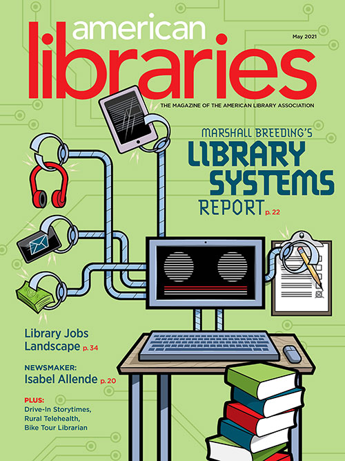 Cover of American Libraries Magazine May 2021