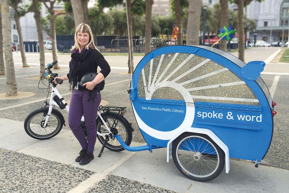 San Francisco Public Library's Spoke & Word electric-assist bike. Photo: San Francisco Public Library