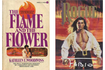 Covers of The Flame and the Flower and Rogue