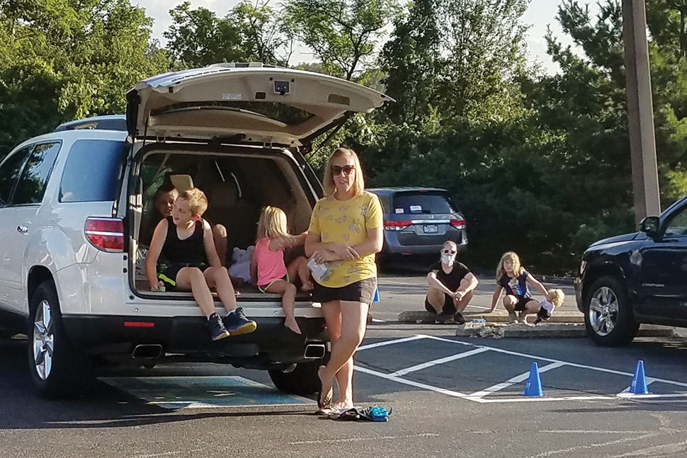 Families attend a drive-in storytime at Cincinnati and Hamilton County (Ohio) Public Library's Monfort Heights branch in 2020. Photo: Cincinnati and Hamilton County (Ohio) Public Library