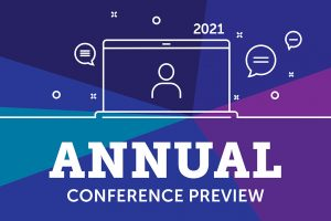 """Graphic reading """"Annual Conference Preview"""""""