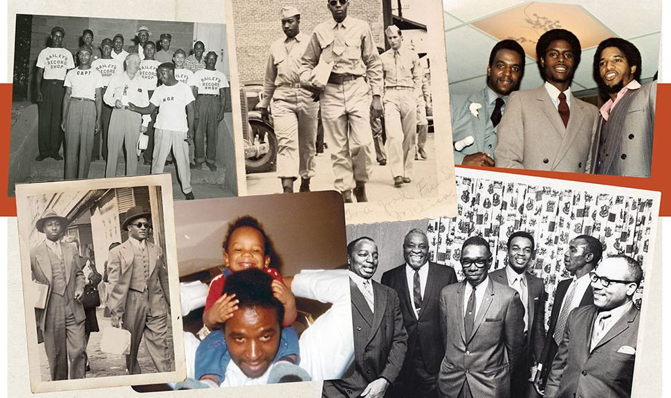 Historical photos of Black men participating in civic life from the Black Male Archives.
