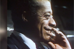 Screenshot of James Baldwin in profile from 20/20, 1979
