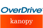 Logos for OverDrive and Kanopy